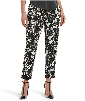 HUE Floral Print Loafer Skimmer Pants