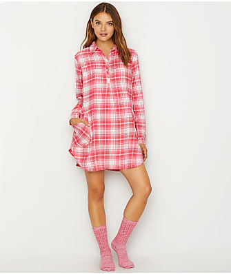 UGG Gabri Plaid Sleep Shirt Set