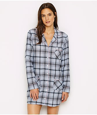 UGG Laura Flannel Sleep Shirt & Plush Socks Set