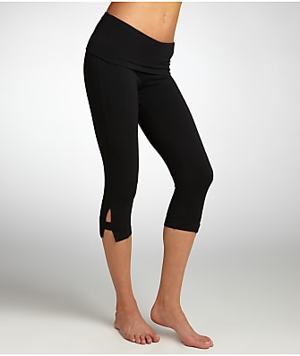 Hard Tail Side Slinger Rolldown Cropped Yoga Pants
