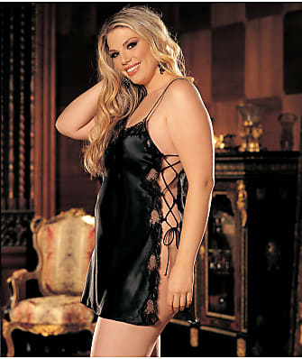 Shirley of Hollywood Silky Side Tie Chemise