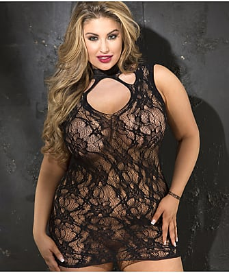 Shirley of Hollywood Stretch Lace Chemise Plus Size