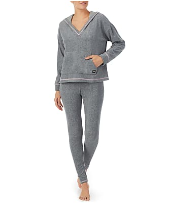 DKNY Sleepwear Hooded Fleece Pajama Set