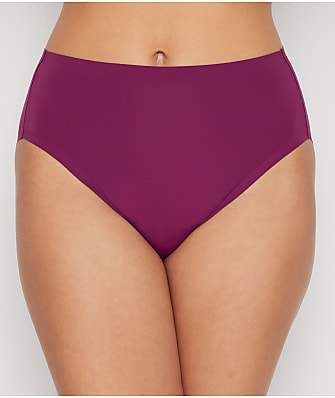 HANRO LACE TRIM MID RISE HIGH CUT CHEEKY PANTY UNDERWEAR SILKY SMALL RED NEW $38