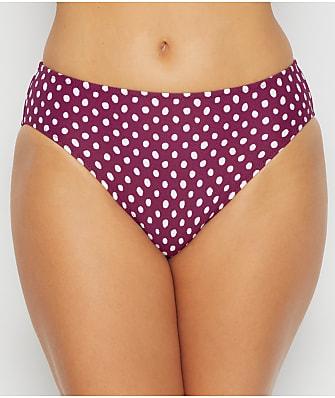 POUR Moi Dominica Navy Blue SPOT Bikini Pant 8 10 12 18 da donna