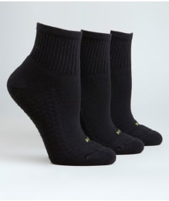 HUE Air Cushion Mini Crew Socks 3-Pack
