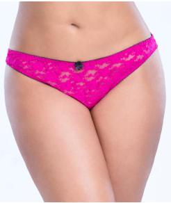 Oh La La Cheri Open Back Crotchless Bikini Plus Size