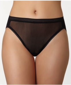 OnGossamer Gossamer Mesh Hi-Cut Brief Plus Size