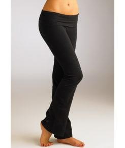 Hard Tail Rolldown Boot Leg Flare Yoga Pants Plus Size
