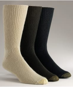 Gold Toe Fluffies Crew Socks 3-Pack Extended Sizes