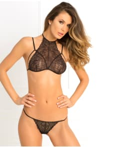 Rene Rofe Most Wanted Lace Bra and G-String Set