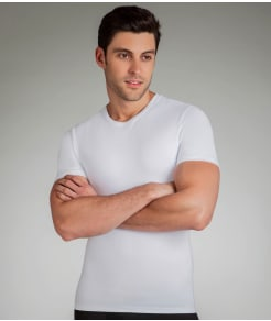 SPANX Cotton Compression Crew Neck T-Shirt
