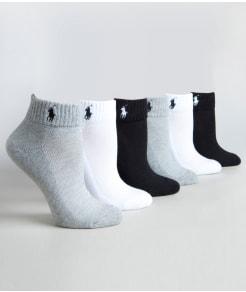 Ralph Lauren Ankle Sport Socks 6-Pack