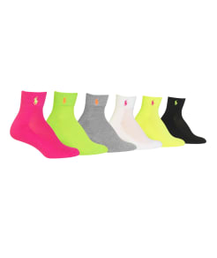 Ralph Lauren Ankle Sport Socks 6-Pack