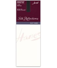 Hanes Silk Reflections Sheer Toe Knee Highs 2-Pack