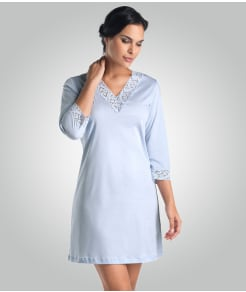 Hanro Moments 3/4 Sleeve Cotton Night Shirt