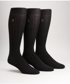 Polo Ralph Lauren Over The Calf Dress Socks 3-Pack