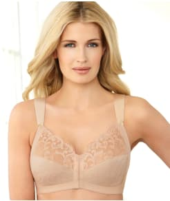 Glamorise Soft Shoulder Wire-Free Front-Close Bra