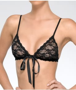 Hanky Panky After Midnight Tie-Front Lace Bralette
