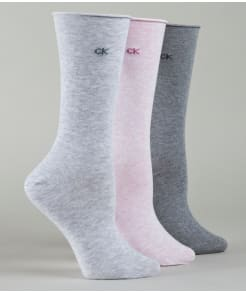 Calvin Klein Hosiery Roll Top Socks 3-Pack