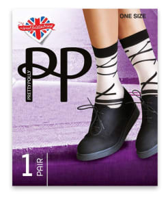Pretty Polly Abstract Linear Anklet Socks
