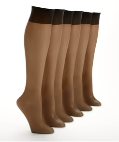 Berkshire Ultra Sheer Knee Highs 6-Pack