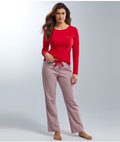 Calvin Klein Flannel and Knit Pajama Set
