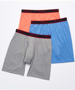 Champion Active Performance Long Leg Boxer Brief 3-Pack