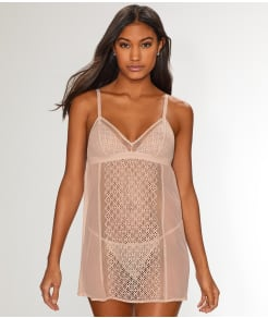 DKNY Sheer Lace Chemise Set