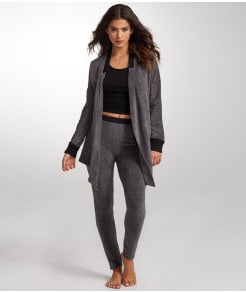 DKNY Open Cardigan & Leggings Knit Lounge Set