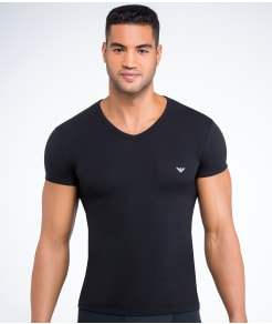 Emporio Armani Eagle Stretch Cotton V-Neck T-Shirt