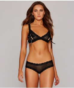 Hanky Panky After Midnight Shadow Stripe Peek-A-Boo Bralette