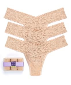 Hanky Panky Signature Lace Low Rise Thong 3-Pack