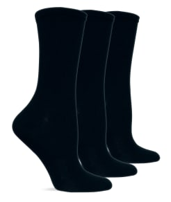 Hot Sox Solid Crew Socks 3-Pack