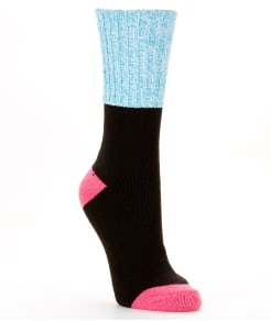 Hot Sox Color Block Marled Boot Socks