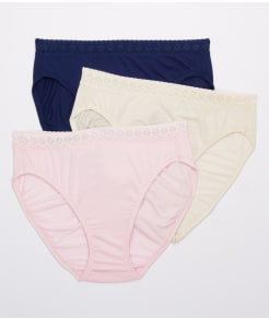 Jockey Elance Supersoft Lace French Cut Brief 3-Pack