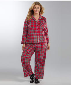 Karen Neuburger Fleece Girlfriend Pajama Set Plus Size
