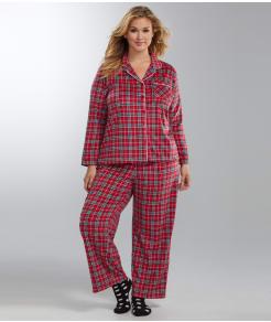 Karen Neuburger Fleece Girlfriend Pajama Set Plus Size