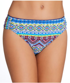 La Blanca Tapmastery Shirred Bikini Swim Bottom