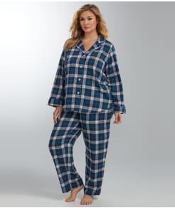 Lauren Ralph Lauren Twill Woven Pajama Set Plus Size