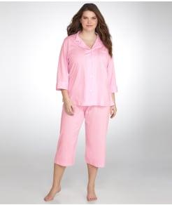 Lauren Ralph Lauren Classic Knit Pajama Set Plus Size