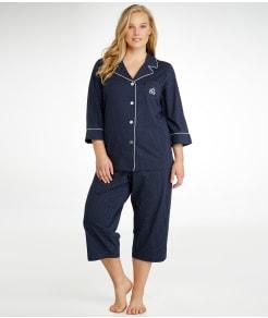 Lauren Ralph Lauren Heritage Essential Knit Capri Pajama Set Plus Size