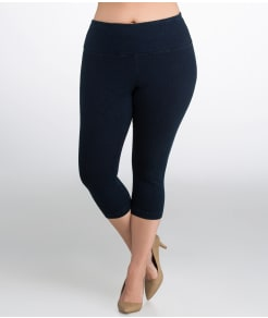 Lyssé Medium Control Denim Capri Leggings Plus Size