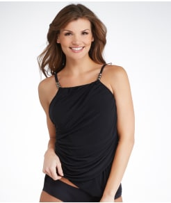 Magicsuit Shirred Raven Tankini Top