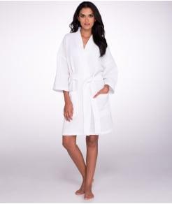 Monarch Cypress Waffle Cotton Unisex Short Kimono Robe