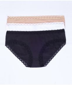 Natori Bliss Cotton Bikini 3-Pack