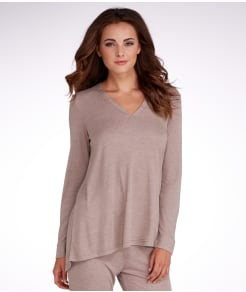 N Natori Speckled Interlock Knit Lounge Top
