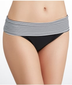 Panache Anya Stripe Fold-Over Bikini Swim Bottom