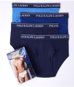 Polo Ralph Lauren Classic Mid-Rise Brief 4-Pack
