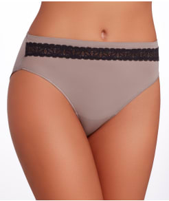 TC Fine Intimates Wonderful Edge Lace Trim Hi-Cut Brief